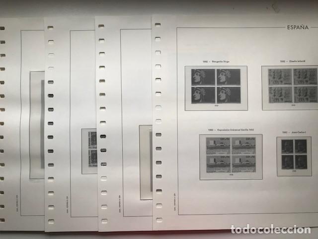 Sellos: Hojas Edifil año 1992 en bloque de 4. Suplemento Edifil España 1992 montado en transparente HEB90 - Foto 18 - 201152231