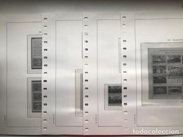 Sellos: Hojas Edifil año 1992 en bloque de 4. Suplemento Edifil España 1992 montado en transparente HEB90 - Foto 21 - 201152231