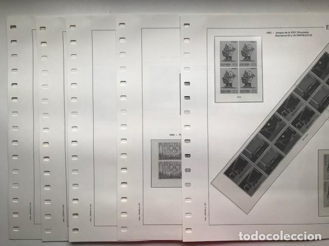 Sellos: Hojas Edifil año 1992 en bloque de 4. Suplemento Edifil España 1992 montado en transparente HEB90 - Foto 19 - 201152231