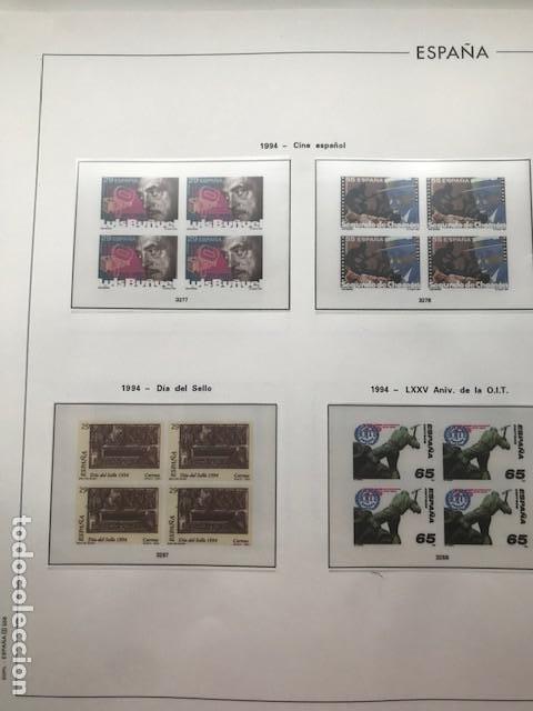 Sellos: Hojas Edifil 1994 en bloque de 4. Suplemento Edifil de España año 1994 en transparente HEB90 - Foto 2 - 201152913