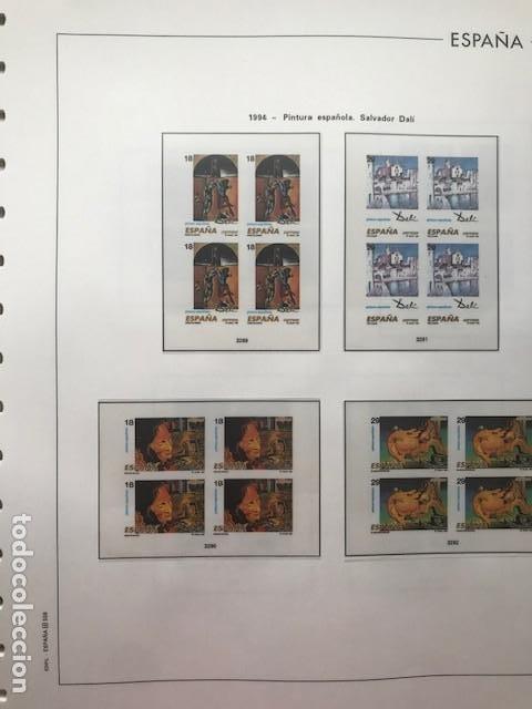 Sellos: Hojas Edifil 1994 en bloque de 4. Suplemento Edifil de España año 1994 en transparente HEB90 - Foto 5 - 201152913