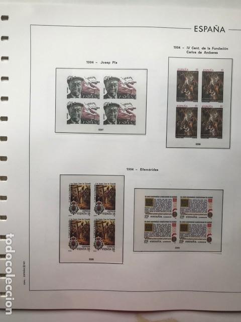 Sellos: Hojas Edifil 1994 en bloque de 4. Suplemento Edifil de España año 1994 en transparente HEB90 - Foto 7 - 201152913