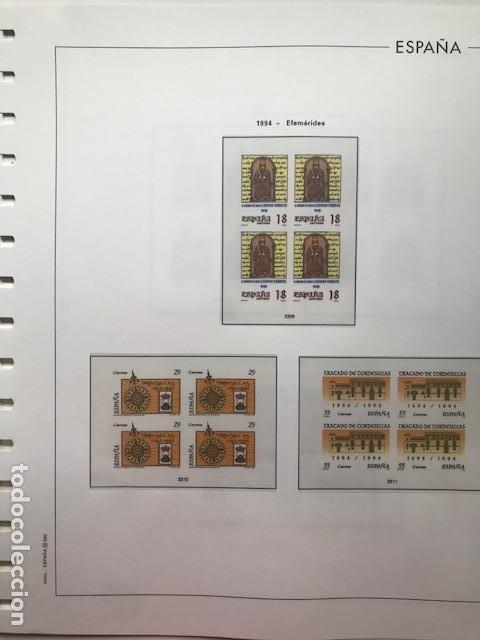 Sellos: Hojas Edifil 1994 en bloque de 4. Suplemento Edifil de España año 1994 en transparente HEB90 - Foto 11 - 201152913