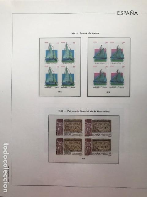 Sellos: Hojas Edifil 1994 en bloque de 4. Suplemento Edifil de España año 1994 en transparente HEB90 - Foto 12 - 201152913