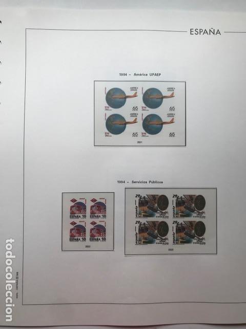 Sellos: Hojas Edifil 1994 en bloque de 4. Suplemento Edifil de España año 1994 en transparente HEB90 - Foto 14 - 201152913