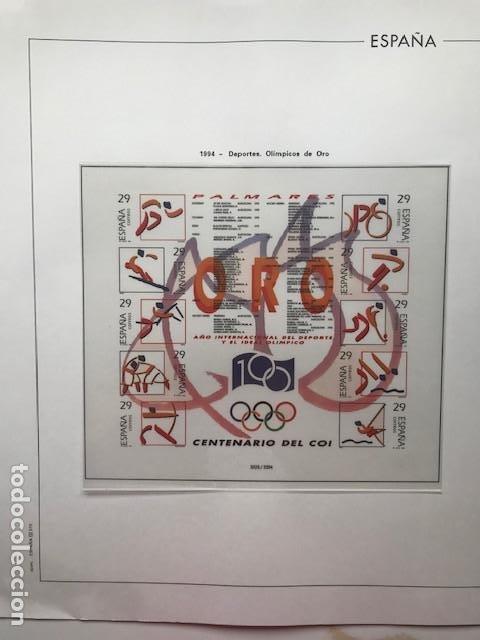 HOJAS EDIFIL 1994 EN BLOQUE DE 4. SUPLEMENTO EDIFIL DE ESPAÑA AÑO 1994 EN TRANSPARENTE HEB90 (Sellos - España - Juan Carlos I - Desde 1.986 a 1.999 - Nuevos)