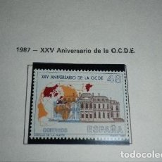 Sellos: 1987 - XXV ANIVERSARIO OCDE - COMPLETA - EDIFIL 2874 ***. Lote 201218182