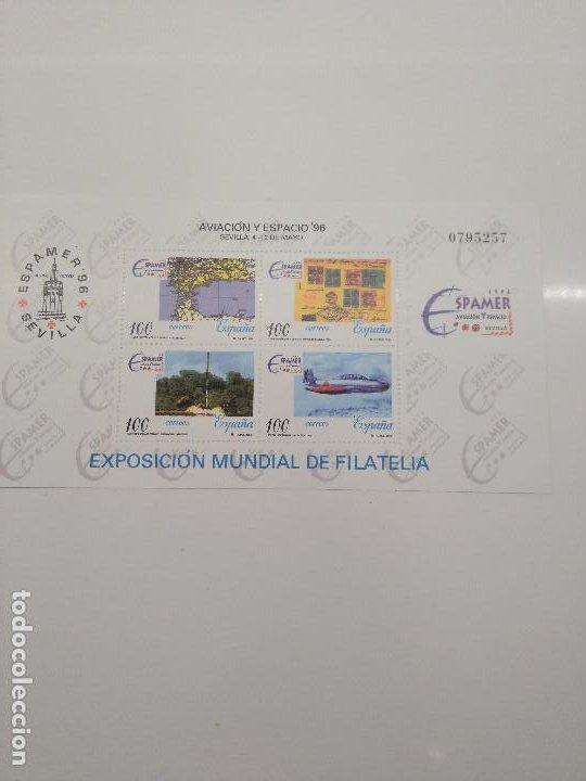 ESPAÑA NUEVO SIN FIJASELLO AÑO 1996 HOJAS BLOQUE EDIFIL 3433 ESPAMER AVIACION Y ESPACIO (Sellos - España - Juan Carlos I - Desde 1.986 a 1.999 - Nuevos)