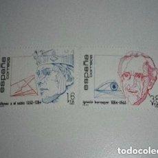 Sellos: ESPAÑA 1984 CENTENARIOS, PERSONAJES NUEVO. Lote 201239000