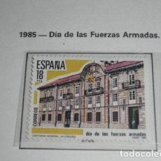 Sellos: ESPAÑA 2790*** - AÑO 1985 - DIA DE LAS FUERZAS ARMADAS. Lote 201258100