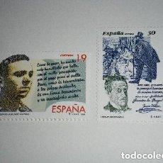 Sellos: LITERATURA ESPAÑOLA. PERSONAJES DE FICCION. SERIE Nº 3356/7. Lote 201258307
