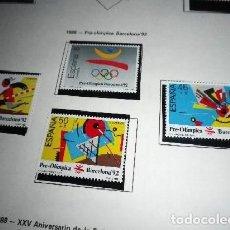 Sellos: EDIFIL 2963, 2964, 2965 Y 2966.- 1988.-JUEGOS OLÍMPICOS BARCELONA 92. I SERIE PRE-OLÍMPICA. Lote 201259870
