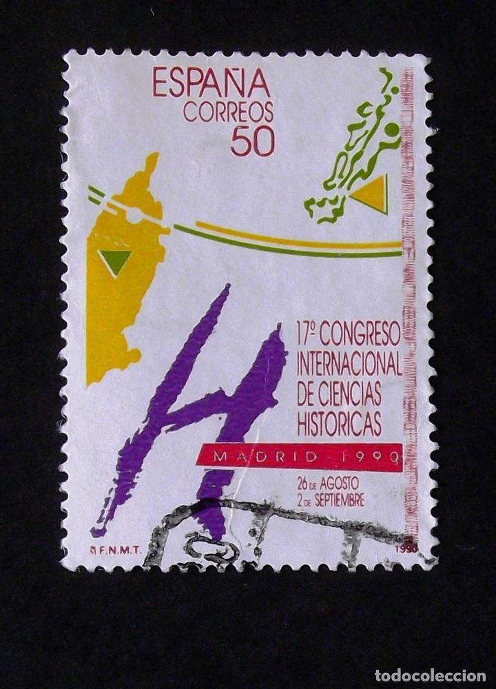 3075, SERIE EN USADO. HISTÓRICAS. (Sellos - España - Juan Carlos I - Desde 1.986 a 1.999 - Usados)