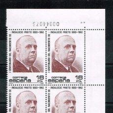 Sellos: ESPAÑA 1983 - EDIFIL 2731** - CENTENARIO DEL NACIMIENTO DE INDALECIO PRIETO - SERIE COMPLETA EN BLOQ. Lote 201557526