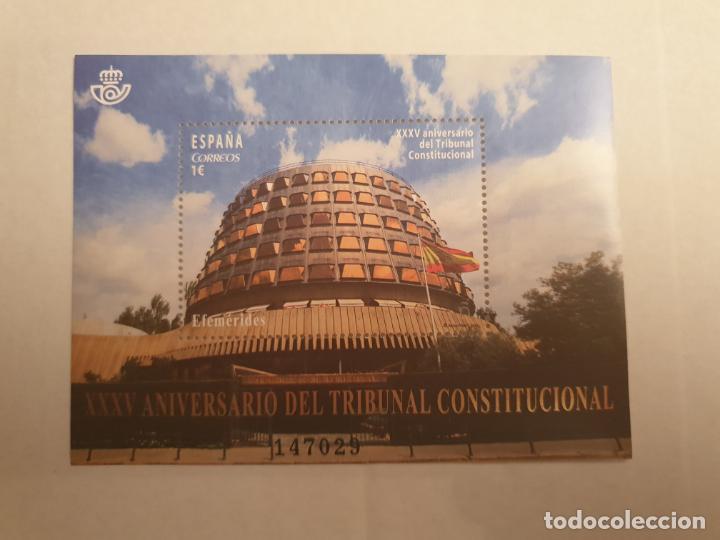HOJA BLOQUE XXXV ANIVERSARIO TRIBUNAL CONSTITUCIONAL (Sellos - España - Juan Carlos I - Desde 2.000 - Nuevos)