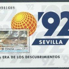 Sellos: 1992. EDIFIL HOJITA 3191**MNH. EXPO'92. SEVILLA. LA ERA DE LOS DESCUBRIMIENTOS.. Lote 245934170