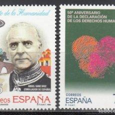 Selos: ESPAÑA,1998 EDIFIL Nº 3606 / 3607 /**/, DERECHOS HUMANOS, ÁNGEL SANZ BRIZ. Lote 201801755