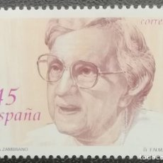 Sellos: 1993. ESPAÑA. 3241. FILÓSOFA Y ESCRITORA MARÍA ZAMBRANO. SERIE COMPLETA. NUEVO. . Lote 201841300