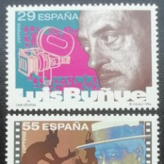 Sellos: 1994. ESPAÑA. 3277 / 3278. CINE ESPAÑOL: LUIS BUÑUEL, SEGUNDO DE CHOMÓN. SERIE COMPLETA. NUEVO.. Lote 201859662