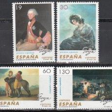 Selos: ESPAÑA, 1996 EDIFIL Nº 3437 / 3440 /**/, PINTURAS ESPAÑOLAS, FRANCISCO DE GOYA Y LUCIENTES. Lote 201897071