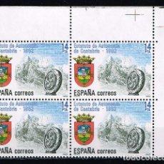 Sellos: ESPAÑA 1983 - EDIFIL 2687** - ESTATUTOS DE AUTONOMÍA - BLOQUE DE 4 - BORDE HOJA. Lote 202009712