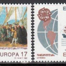 Selos: ESPAÑA,1992 EDIFIL Nº 3196 / 3197 /**/, EUROPA (CEPT), DESCUBRIMIENTO DE AMÉRICA. Lote 202013558