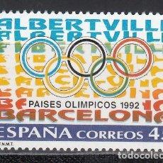 Selos: ESPAÑA,1992 EDIFIL Nº 3211 /**/, PAÍSES OLÍMPICOS. Lote 202019032