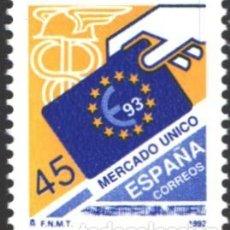 Selos: ESPAÑA,1992 EDIFIL Nº 3226 /**/, MERCADO ÚNICO EUROPEO. Lote 202027071