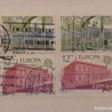 Timbres: AÑO 1978 EUROPA-CEPT SE VENDEN DOS SERIES DIFERENTES DE 4 SELLOS EN USADOS EDIFIL 2474-2475. Lote 202379830