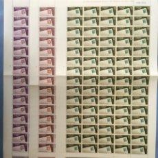 Sellos: 1966-ESPAÑA 1723/25 MNH** DÍA MUNDIAL DEL SELLO - PLIEGO COMPLETOS 75 SELLOS - VC: 30 €. Lote 222637922