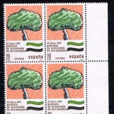 Sellos: ESPAÑA 1984 - EDIFIL 2735** - PAISAJES Y MONUMENTOS - BLOQUE 4 - NUEVO - SERIE NO COMPLETA. Lote 202480483