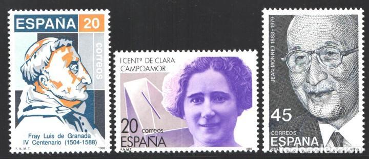 ESPAÑA,1988 EDIFIL Nº 2929 / 2931 /**/, CENTENARIO DE PERSONALIDADES (Sellos - España - Juan Carlos I - Desde 1.986 a 1.999 - Nuevos)