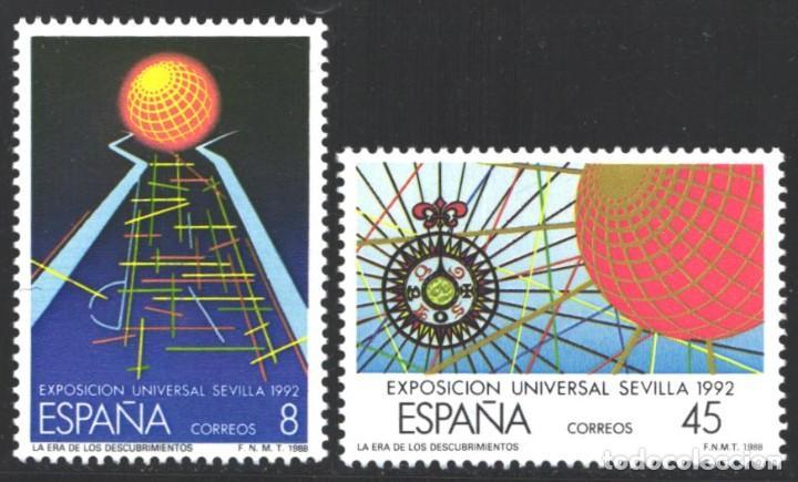 ESPAÑA,1988 EDIFIL Nº 2939 / 2940 /**/, EXPO '92. LA ERA DE LOS DESCUBRIMIENTOS (Sellos - España - Juan Carlos I - Desde 1.986 a 1.999 - Nuevos)