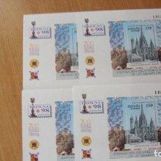 Sellos: ESPAÑA 1998 EDIFIL H-3557 4 NUEVAS PEFECTAS. Lote 230736880