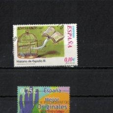 Timbres: ESPAÑA EDIFIL AÑO 2002 Nº S.H.3921 + 3949 - 2 SELLO HOJA USADO. Lote 202641655