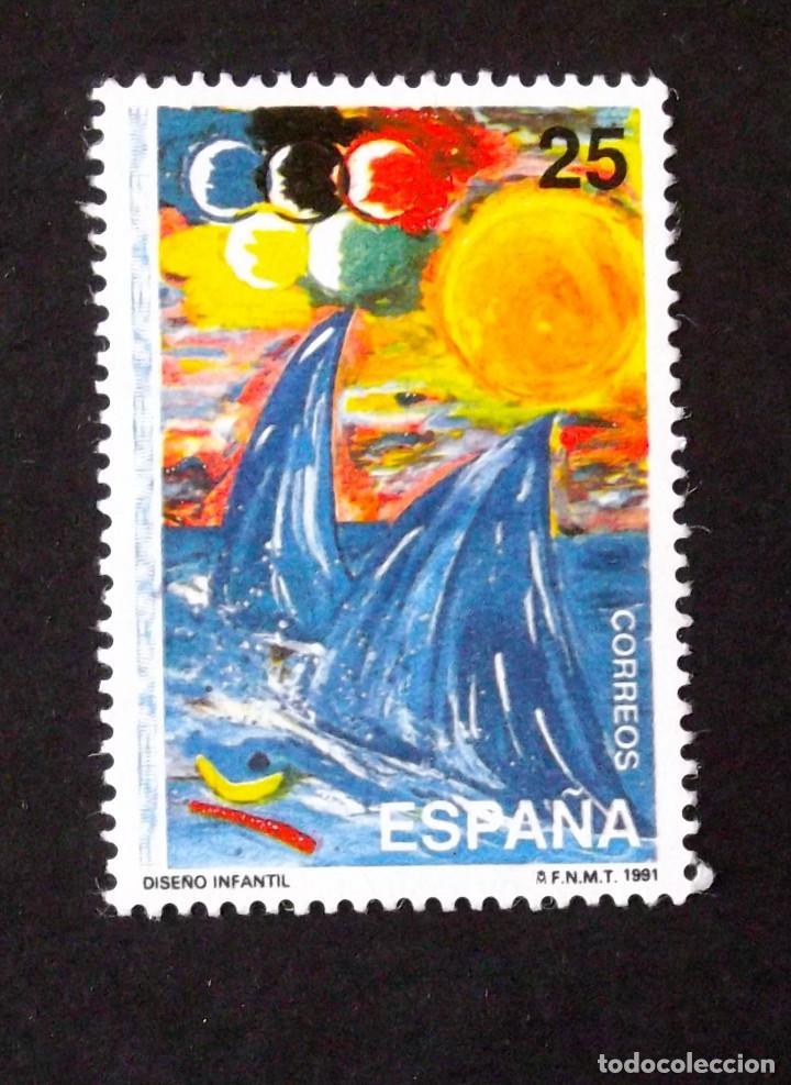 3107, SERIE EN USADO. INFANTIL. (Sellos - España - Juan Carlos I - Desde 1.986 a 1.999 - Usados)