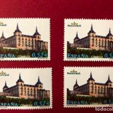 Sellos: ESPAÑA, 4 SELLOS NUEVOS, AÑO 2004, PARADOR DE TURISMO DE LERMA, BURGOS. Lote 202908322