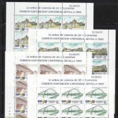 Sellos: ESPAÑA . AÑO 1991. EXPO. UNIVERSAL DE SEVILLA. MP 24-27.IGUAL NUMERACIÓN.. Lote 203000021