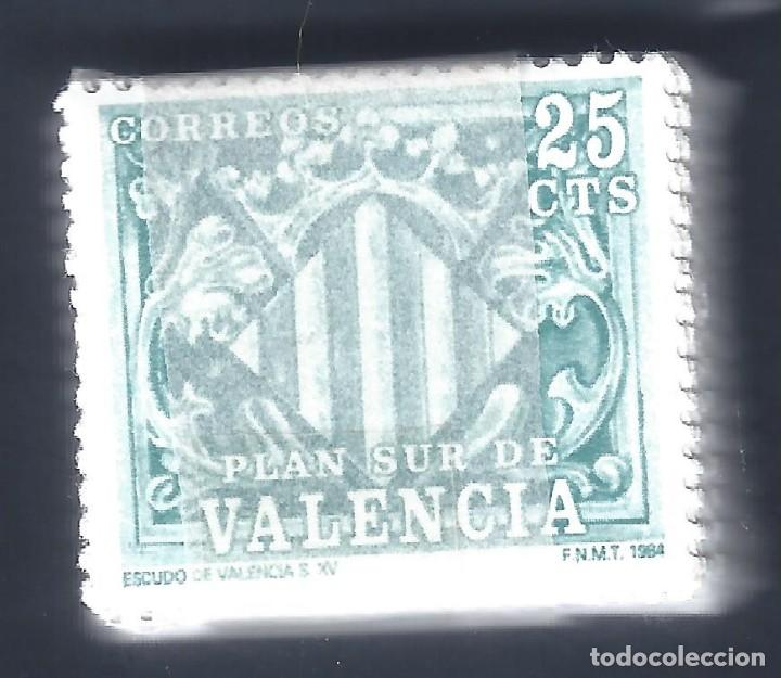 EDIFIL 11. VALENCIA. ESCUDO. PLAN SUR DE VALENCIA 1984. PASTILLA 100 UNIDADES. MNH ** (Sellos - España - Juan Carlos I - Desde 1.975 a 1.985 - Nuevos)
