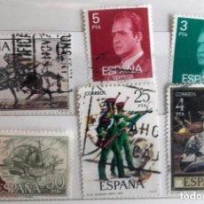 Sellos: ESPAÑA 1976, 6 SELLOS USADOS DIFERENTES. Lote 203131407