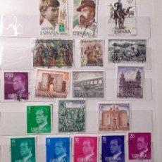 Sellos: ESPAÑA 1977, 18 SELLOS USADOS DIFERENTES. Lote 203132023