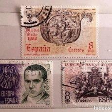 Sellos: ESPAÑA 1980, 3 SELLOS USADOS DIFERENTES. Lote 203132887