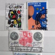 Sellos: ESPAÑA 1982, 4 SELLOS USADOS DIFERETES. Lote 203133551