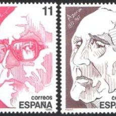 Selos: ESPAÑA, 1986 EDIFIL Nº 2853 / 2856 /**/, PERSONAJES. Lote 203202140