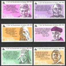 Selos: ESPAÑA, 1986 EDIFIL Nº 2860 / 2865 /**/ V CENTENARIO DEL DESCUBRIMIENTO DE AMÉRICA.. Lote 203202328