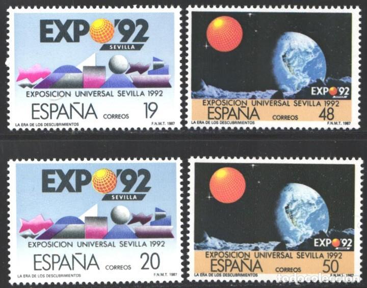 ESPAÑA, 1987 EDIFIL Nº 2875 / 2878 A /**/ EXPO '92. LA ERA DE LOS DESCUBRIMIENTOS (Sellos - España - Juan Carlos I - Desde 1.986 a 1.999 - Nuevos)