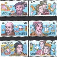 Selos: ESPAÑA, 1987 EDIFIL Nº 2919 / 2924 /**/, V CENTENARIO DEL DESCUBRIMIENTO DE AMÉRICA. Lote 203203627