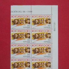 Sellos: ESPAÑA - EDIFIL 3536, GENERACION 98, COMPLETA, 1998, 1 BLOQUE DE 10 SELLOS - NUEVOS ...L958. Lote 203241535