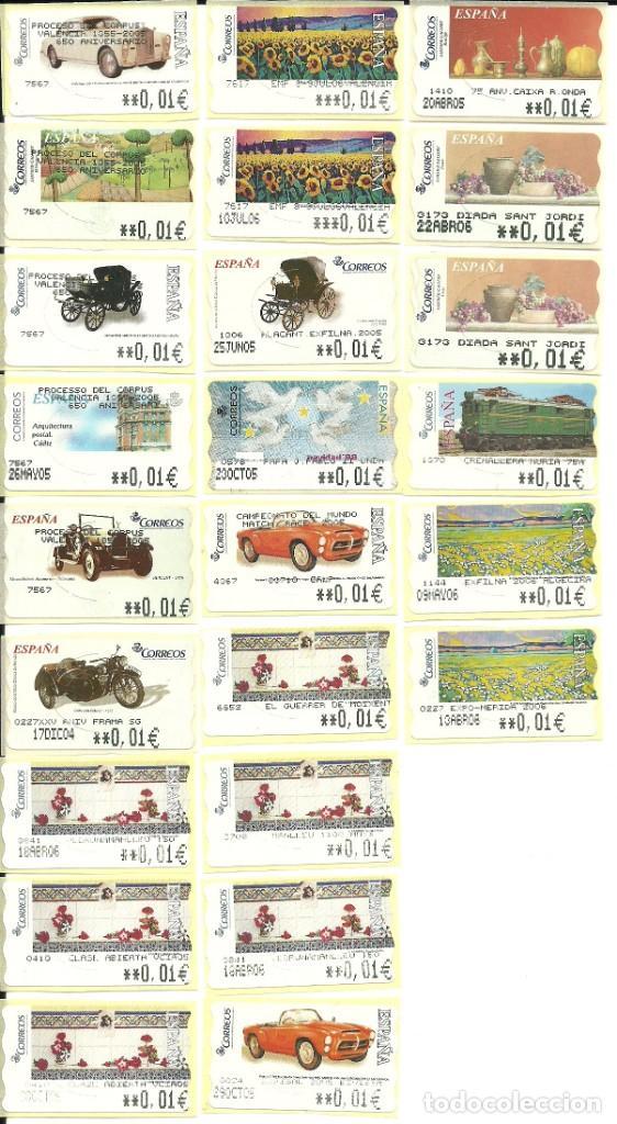 24 ATMS EN €UROS DE ESPAÑA ,CON LEYENDAS , TODAS DIFERENTES , NUEVAS .ETIQUETAS (Sellos - España - Juan Carlos I - Desde 2.000 - Nuevos)