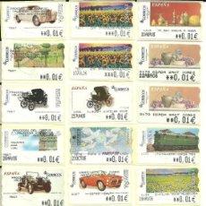 Sellos: 24 ATMS EN €UROS DE ESPAÑA ,CON LEYENDAS , TODAS DIFERENTES , NUEVAS .ETIQUETAS. Lote 203189275